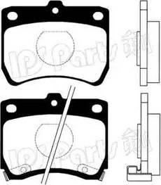 IPS Parts IBD-1332 - Kit de plaquettes de frein, frein à disque www.widencarpieces.com
