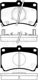 IPS Parts IBD-1326 - Kit de plaquettes de frein, frein à disque www.widencarpieces.com