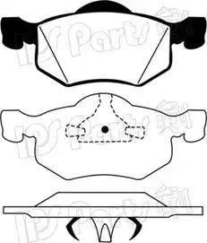 IPS Parts IBD-1322 - Kit de plaquettes de frein, frein à disque www.widencarpieces.com