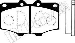 IPS Parts IBD-1236 - Kit de plaquettes de frein, frein à disque www.widencarpieces.com