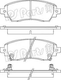 IPS Parts IBD-1276 - Kit de plaquettes de frein, frein à disque www.widencarpieces.com