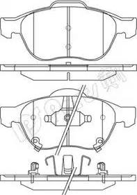 IPS Parts IBD-1278 - Kit de plaquettes de frein, frein à disque www.widencarpieces.com