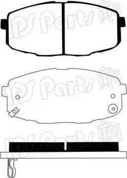 IPS Parts IBD-1K09 - Kit de plaquettes de frein, frein à disque www.widencarpieces.com