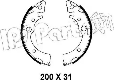 IPS Parts IBL-4412 - Mâchoire de frein www.widencarpieces.com