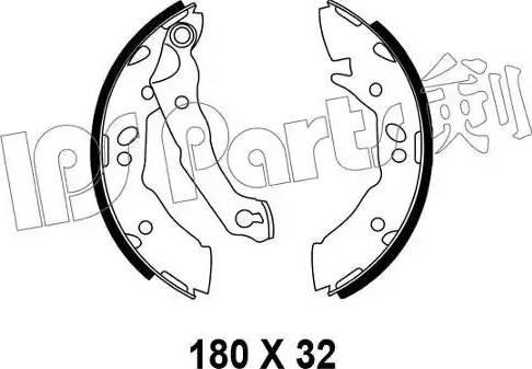 IPS Parts IBL-4595 - Mâchoire de frein www.widencarpieces.com