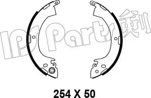 IPS Parts IBL-4501 - Mâchoire de frein www.widencarpieces.com