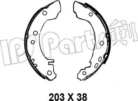 IPS Parts IBL-4010 - Mâchoire de frein www.widencarpieces.com