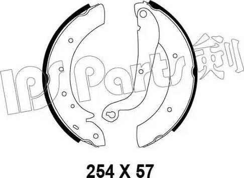 IPS Parts IBL-4195 - Mâchoire de frein www.widencarpieces.com