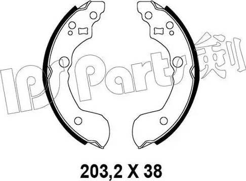 IPS Parts IBL-4191 - Mâchoire de frein www.widencarpieces.com