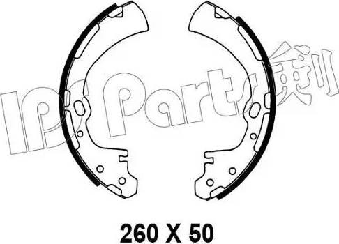 IPS Parts IBL-4138 - Mâchoire de frein www.widencarpieces.com