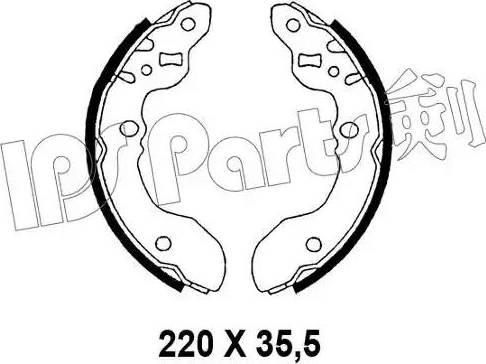 IPS Parts IBL-4897 - Mâchoire de frein www.widencarpieces.com
