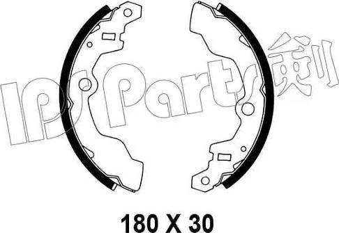 IPS Parts IBL-4808 - Mâchoire de frein www.widencarpieces.com