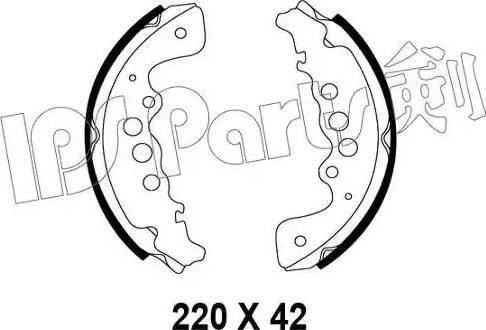 IPS Parts IBL-4818 - Mâchoire de frein www.widencarpieces.com