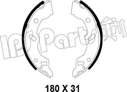 IPS Parts IBL-4399 - Mâchoire de frein www.widencarpieces.com