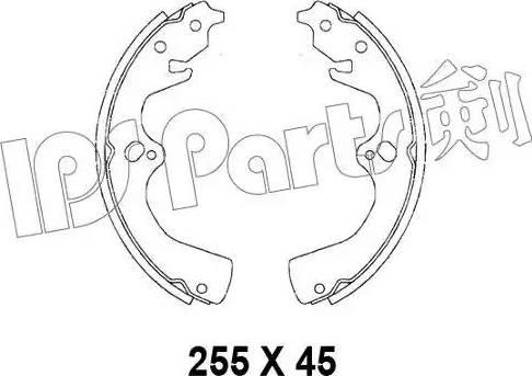 IPS Parts IBL-4396 - Mâchoire de frein www.widencarpieces.com