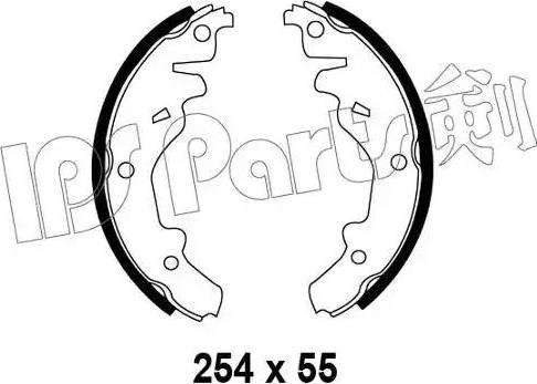 IPS Parts IBL-4342 - Mâchoire de frein www.widencarpieces.com