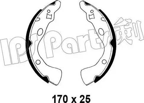 IPS Parts IBL-4330 - Mâchoire de frein www.widencarpieces.com