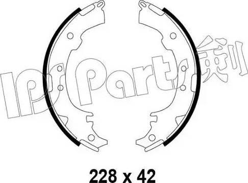 IPS Parts IBL-4297 - Mâchoire de frein www.widencarpieces.com