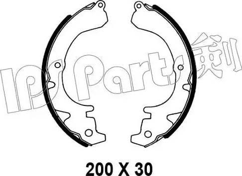 IPS Parts IBL-4200 - Mâchoire de frein www.widencarpieces.com