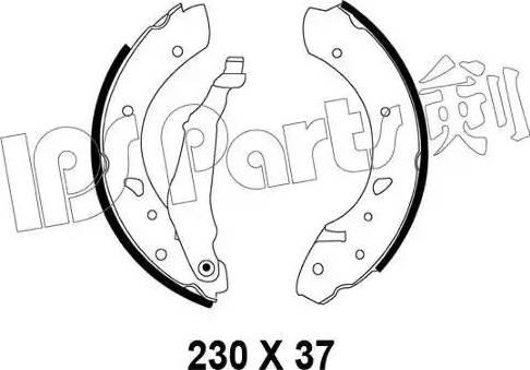 IPS Parts IBL-4216 - Mâchoire de frein www.widencarpieces.com