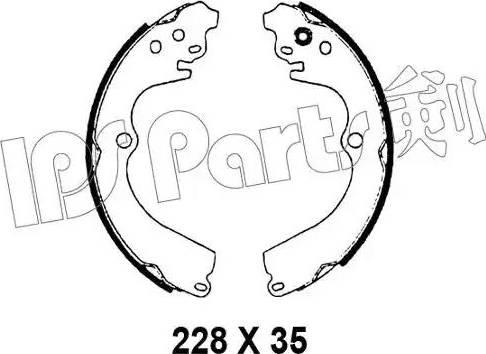 IPS Parts IBL-4798 - Mâchoire de frein www.widencarpieces.com