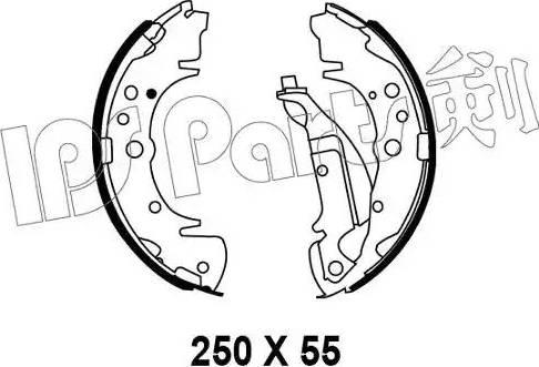 IPS Parts IBL-4K01 - Mâchoire de frein www.widencarpieces.com