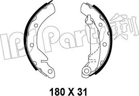 IPS Parts IBL-4W00 - Mâchoire de frein www.widencarpieces.com