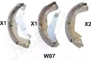Japanparts GF-W07AF - Jeu de freins, freins à tambour www.widencarpieces.com