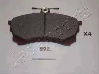 Japanparts PA-592AF - Kit de plaquettes de frein, frein à disque www.widencarpieces.com