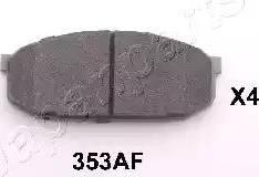 Japanparts PA-353AF - Kit de plaquettes de frein, frein à disque www.widencarpieces.com