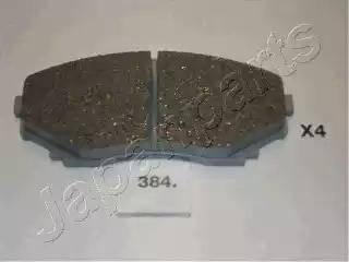 Japanparts PA-384AF - Kit de plaquettes de frein, frein à disque www.widencarpieces.com