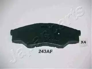 Japanparts PA-243AF - Kit de plaquettes de frein, frein à disque www.widencarpieces.com