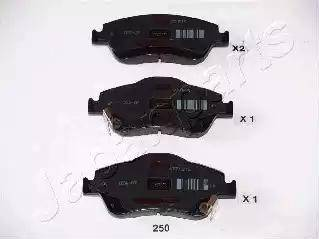 Japanparts PA-250AF - Kit de plaquettes de frein, frein à disque www.widencarpieces.com