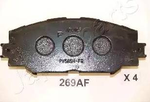 Japanparts PA-269AF - Kit de plaquettes de frein, frein à disque www.widencarpieces.com