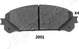 Japanparts PA-2001AF - Kit de plaquettes de frein, frein à disque www.widencarpieces.com