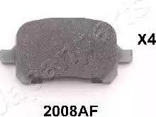 Japanparts PA-2008AF - Kit de plaquettes de frein, frein à disque www.widencarpieces.com