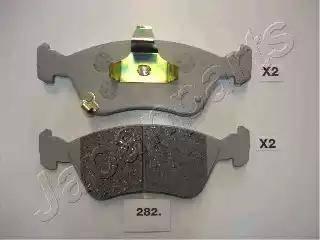 Japanparts PA-282AF - Kit de plaquettes de frein, frein à disque www.widencarpieces.com