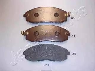 Japanparts PA-H02AF - Kit de plaquettes de frein, frein à disque www.widencarpieces.com