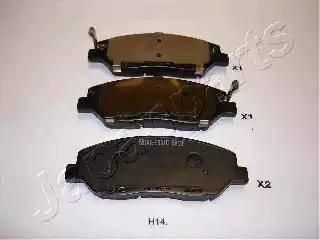 Japanparts PA-H14AF - Kit de plaquettes de frein, frein à disque www.widencarpieces.com