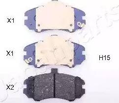 Japanparts PA-H15AF - Kit de plaquettes de frein, frein à disque www.widencarpieces.com