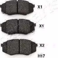 Japanparts PA-H17AF - Kit de plaquettes de frein, frein à disque www.widencarpieces.com