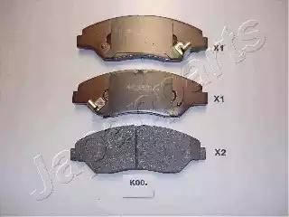 Japanparts PA-K00AF - Kit de plaquettes de frein, frein à disque www.widencarpieces.com