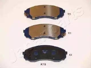 Japanparts PA-K19AF - Kit de plaquettes de frein, frein à disque www.widencarpieces.com