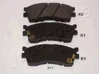 Japanparts PA-K17AF - Kit de plaquettes de frein, frein à disque www.widencarpieces.com