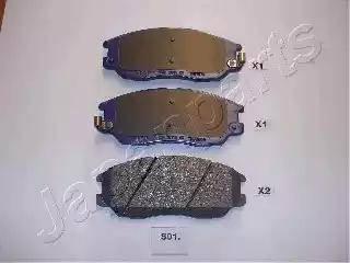 Japanparts PA-S01AF - Kit de plaquettes de frein, frein à disque www.widencarpieces.com