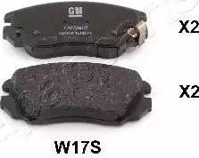 Japanparts PA-W17AF - Kit de plaquettes de frein, frein à disque www.widencarpieces.com