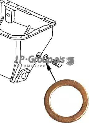 JP Group 8113850100 - Rondelle d'étanchéité, vis de vidange d'huile www.widencarpieces.com