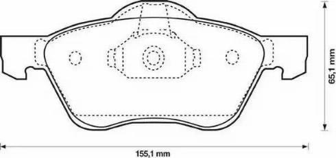 Jurid 572431J-AS - Kit de plaquettes de frein, frein à disque www.widencarpieces.com