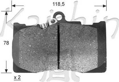 Kaishin FK2266 - Kit de plaquettes de frein, frein à disque www.widencarpieces.com