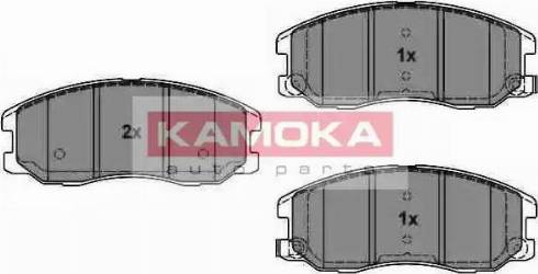 Kamoka JQ1018616 - Kit de plaquettes de frein, frein à disque www.widencarpieces.com